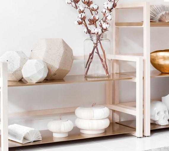 Bokhylla med skandinavisk design u2039 Dansk inredning och design