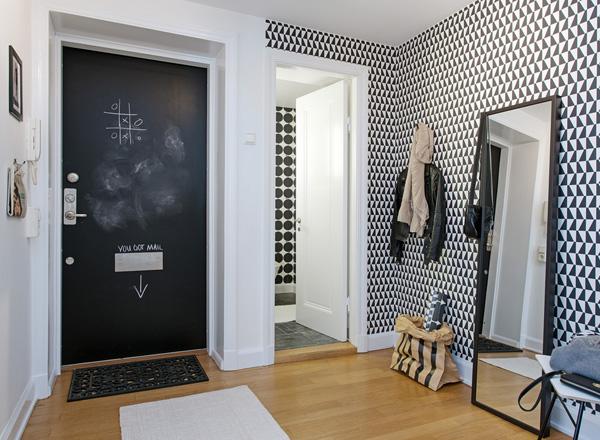 Hur inreder man en hall p en liten yta dansk inredning for Papel pintado para pintar castorama