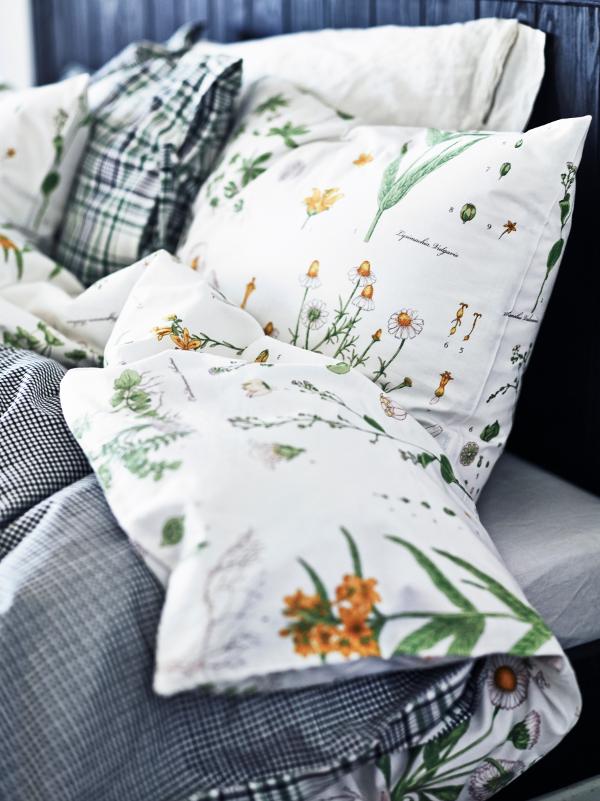 New Ikea Strandkrypa Duvet Quilt Cover Set Lovely Floral