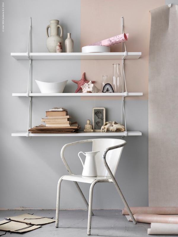 Minimalistiska vägghyllan Ekby från IKEA ‹ Dansk inredning ...
