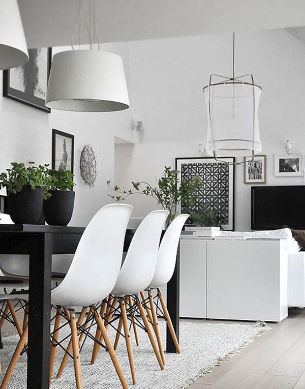 Den svartvita trenden med inslag av växter ‹ Dansk