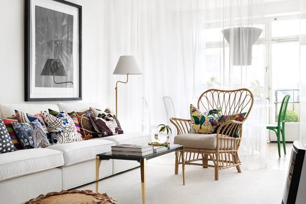 en lägenhet tre stylister tre stilar