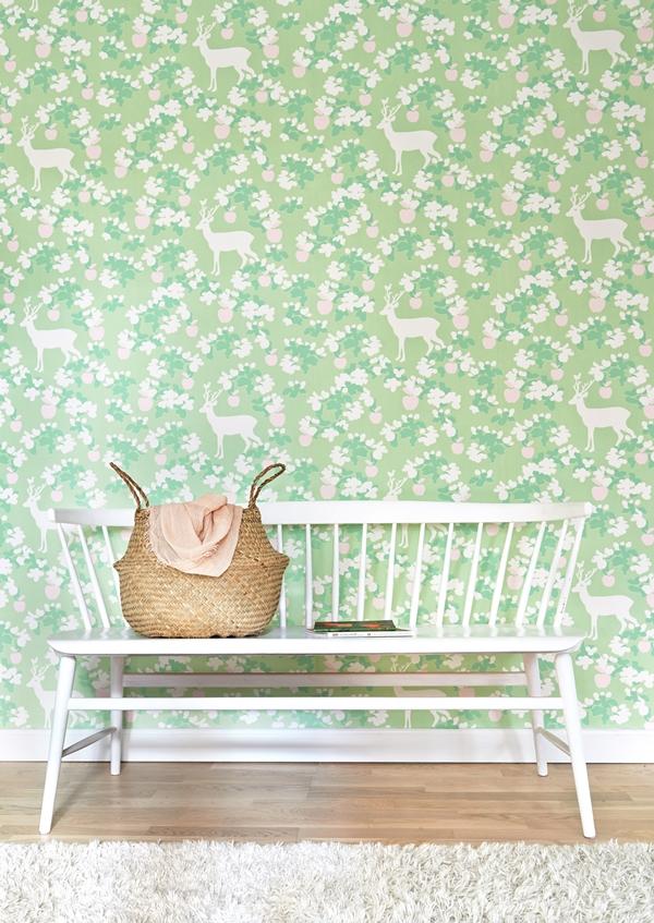 Apple garden green 107-02 soffa