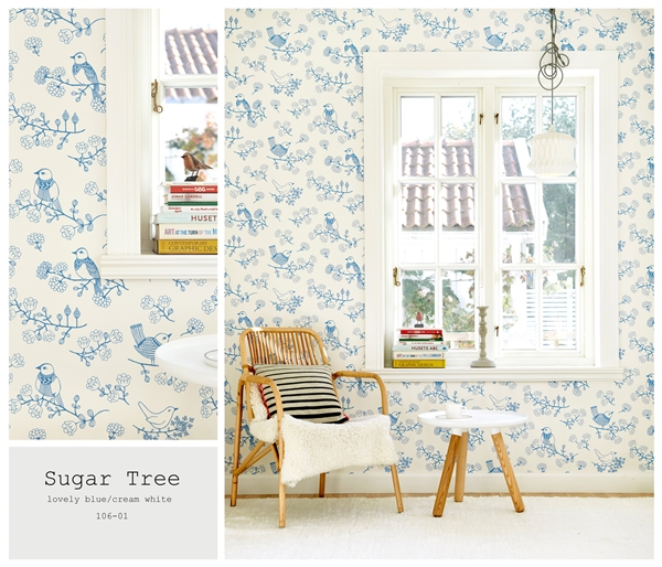 sugar tree blue och vit 106-01