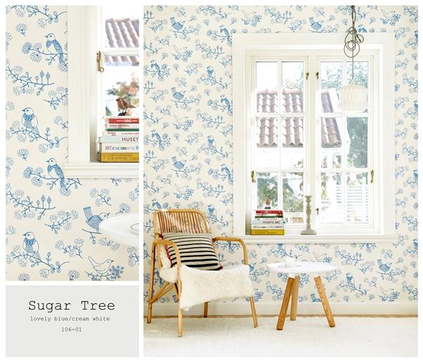 sugar tree blue och vit 106-01