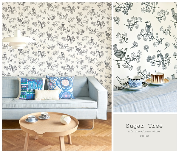 sugar tree svart vit 106-02