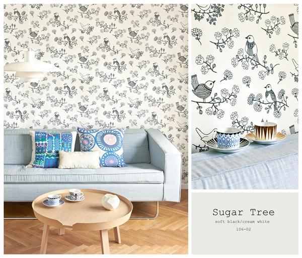 sugar tree svart vit 106-02