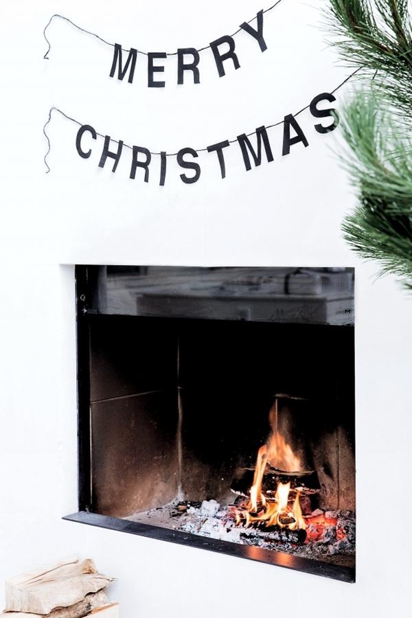 diy svart och vit jul