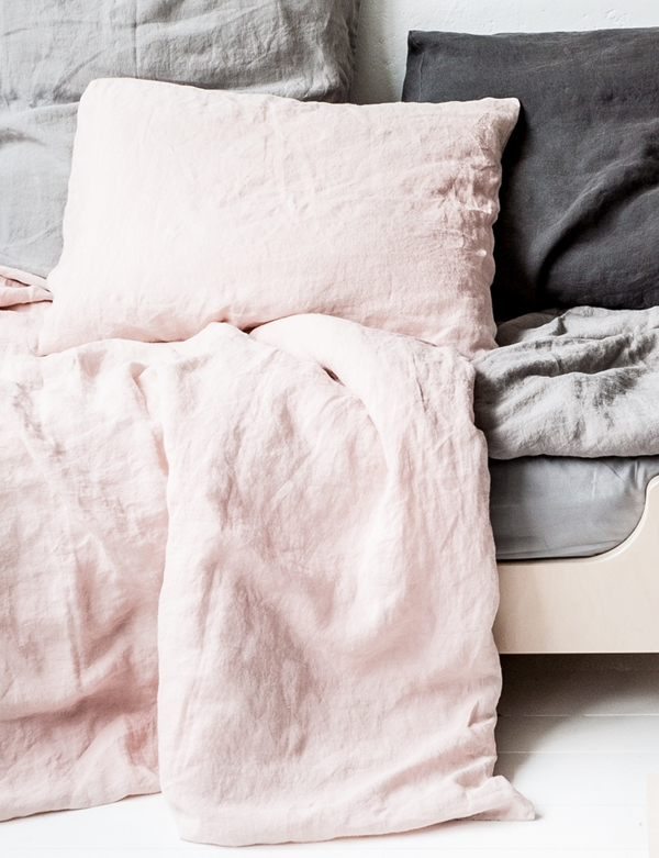 duvet cover linen soft pink-2