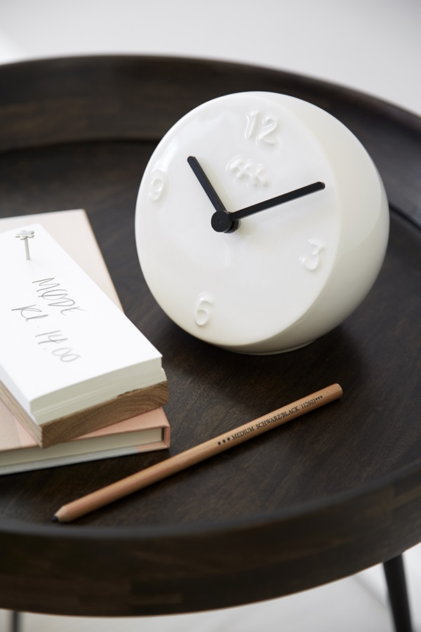 Ora Table Clock White 3
