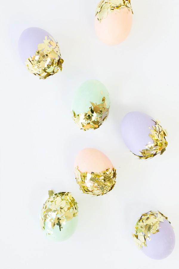diy påskägg pastell konfetti