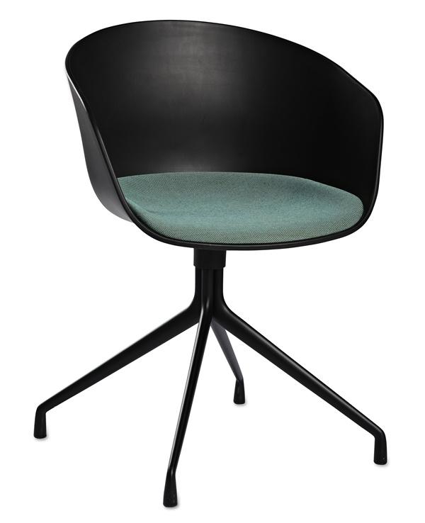 AAC20 black seat cushion Steelcut Trio 845