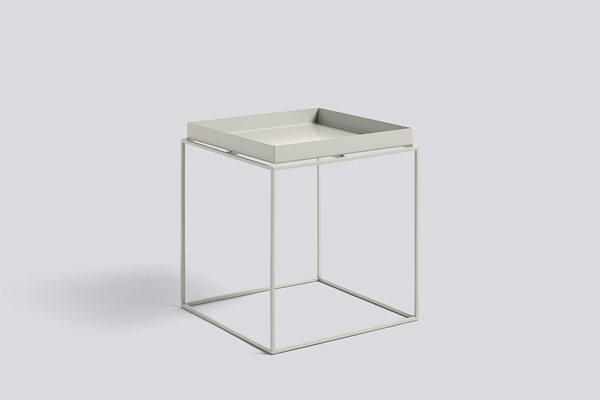 Tray Table Warm Grey 40x40