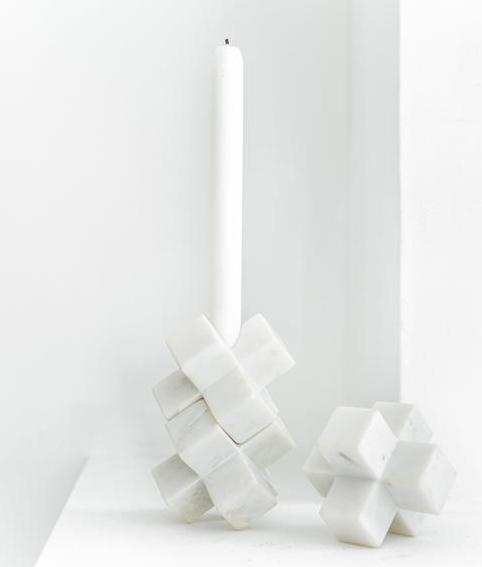 3D ljusstake marmor hk living trendsisters