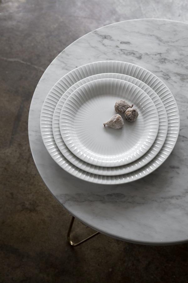 Hammershøi Plates White Ø270, Ø220 and Ø190 3