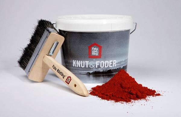 Pensel burk och pigment