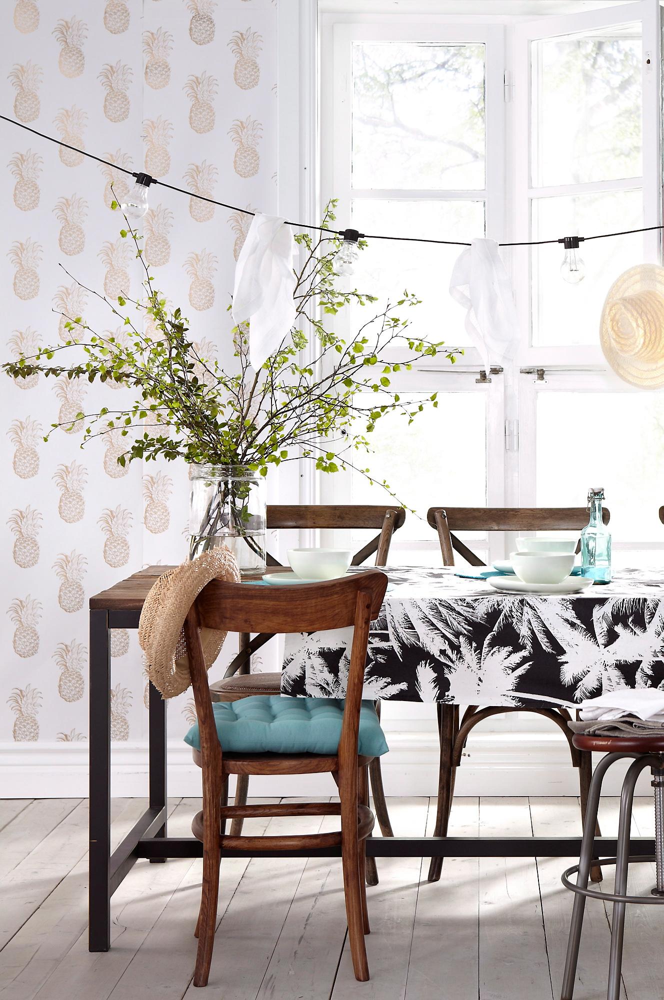 Ananas som tapet ‹ dansk inredning och design