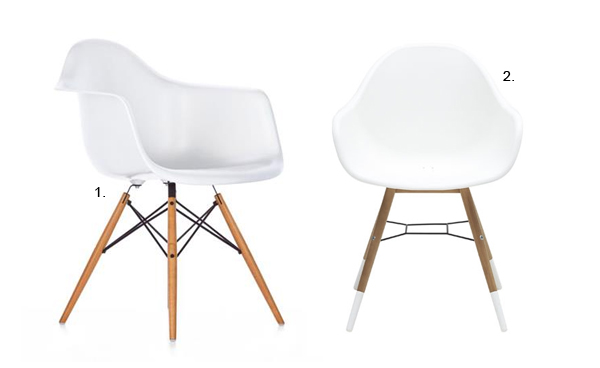 Eames stol vitra excellent vitra miniatures collection for Chaise a bascule rar blanche eames