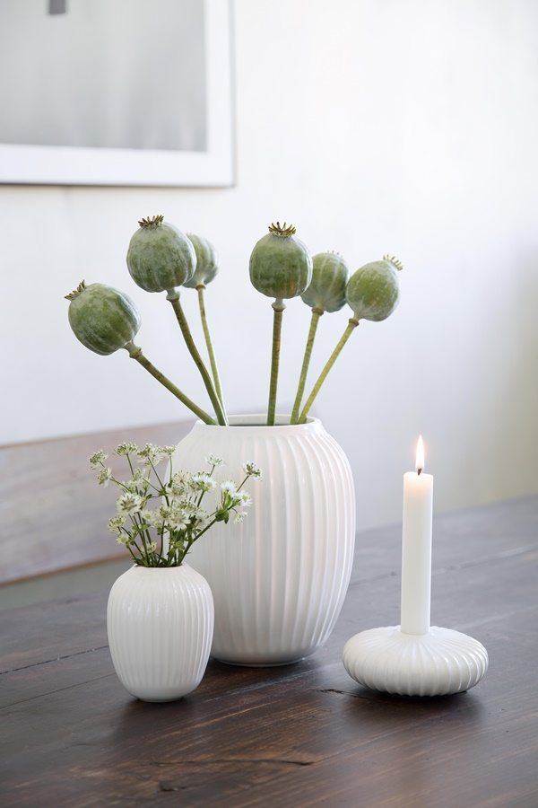 Hammershøi Vase H200 and H100 White and Candle Holder H45 White_High resolution JPG_232101