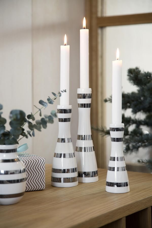 Omaggio Candle Holders Silver H160, H200 and H240_High resolution JPG_232114