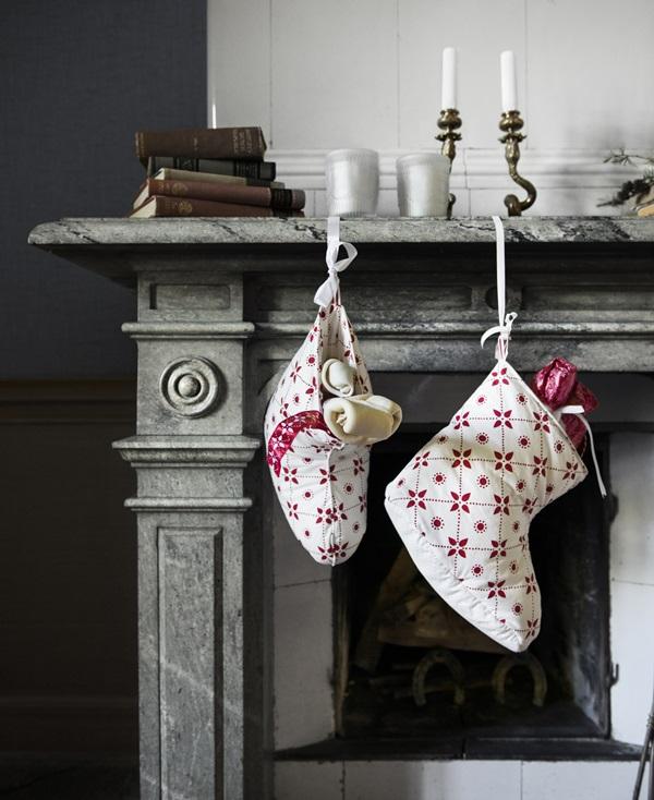 romantisk jul röd ikea