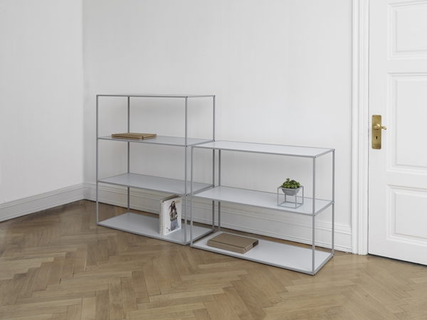 byLassen_Twin Bookcase_Cool grey_Kubus Bowl_Lifestyle_High Res