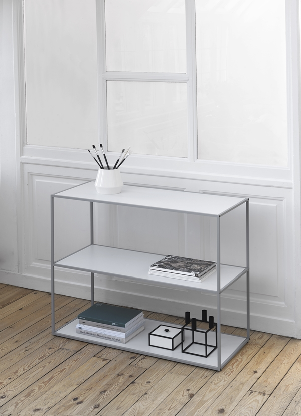byLassen_Twin Bookcase_Cool grey_Rimm_Vase_Lifestyle_High Res
