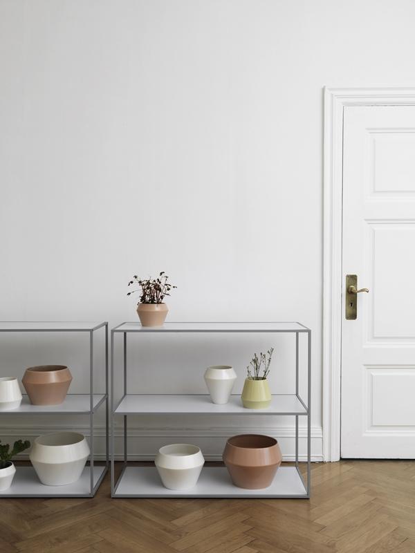byLassen_Twin Bookcases_Cool grey_Rimm_Vase_Flowerpot_Lifestyle_High Res