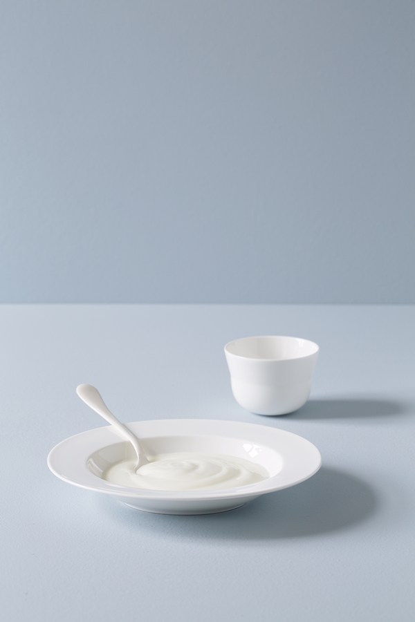 Kaolin Deep Plate Ø225 and Cup 15 CL 1B