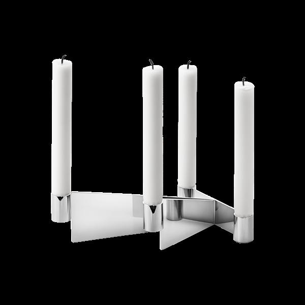 URKIOLA-ljusstake-rostfritt-staal
