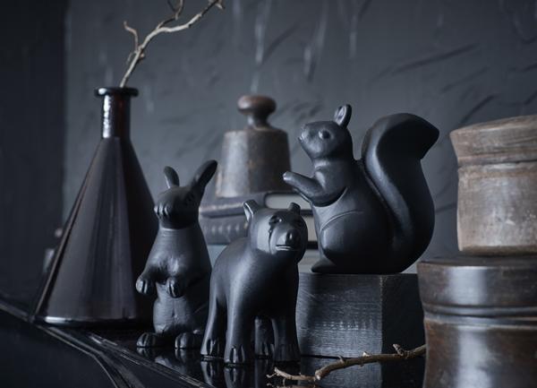 IKEA_RORD_dekoration_djur_svart