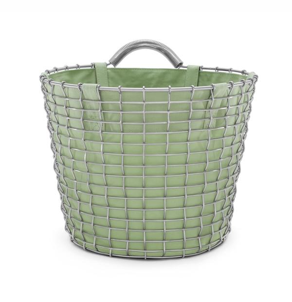 Basket liner green Bin 16 acid proof stainless
