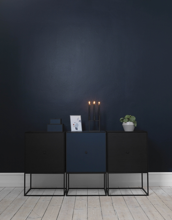 byLassen__Frame sideboard_Kubus 4 black_Rimm cool grey_Palette_Lifestyle_High Res