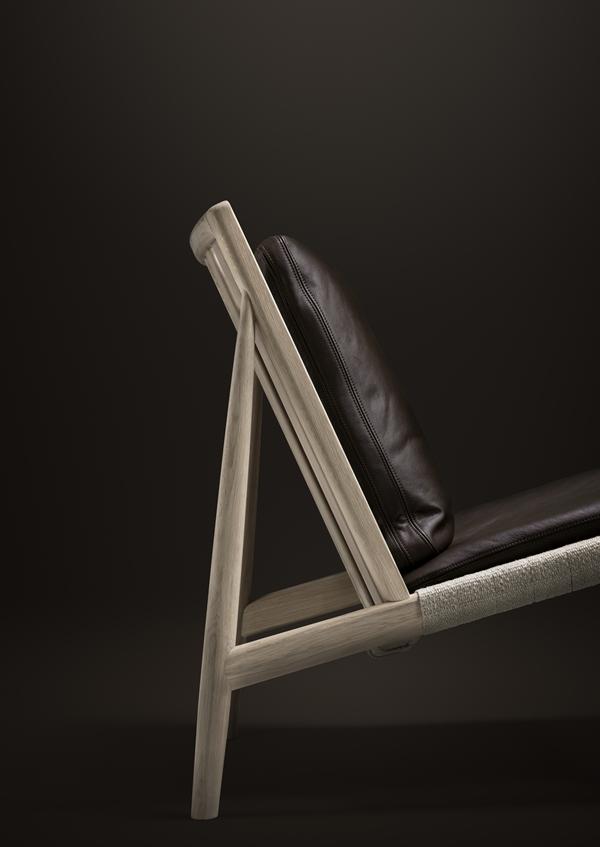 Easy Chair brunt skinn