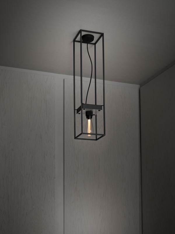 Buster-Punch-CAGED-Ceiling-Light-1.0-MEDIUM-Polished-White-MARBLE-Extension-Cage