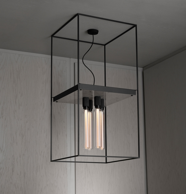 Buster-Punch-CAGED-Ceiling-Light-4.0-Polished-White-Marble-Extension-Cage