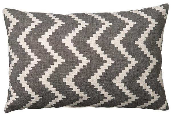 Chhatwal and Jonsson cusion Ikat Sema indor outdoor water repellent grey 40x60 495sek OIC310113-9_aRGB