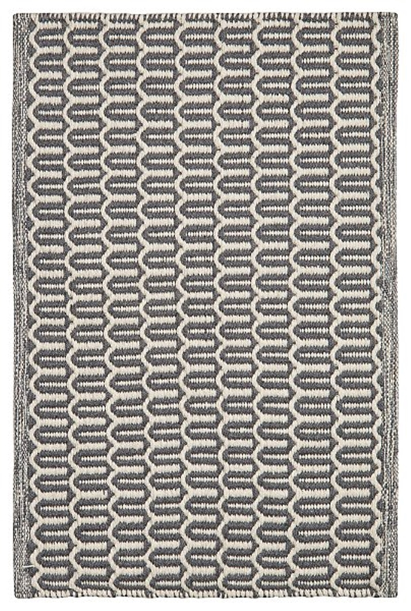 Chhatwall and Jonsson carpet Indoor Outdoor Carpet Bahar charcoal grey ivory 80x50 395sek OI890816-9