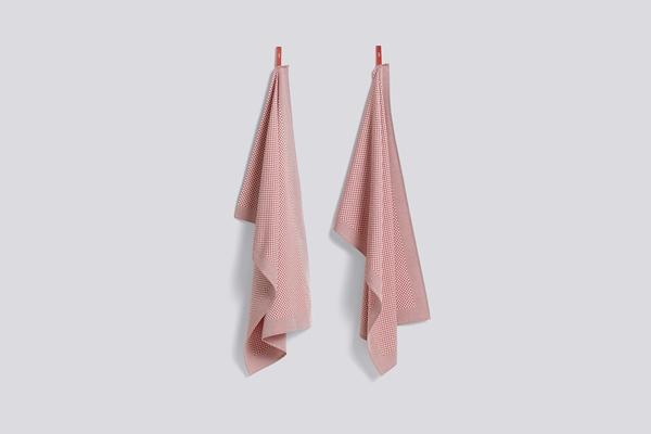 Tea Towel Check pink