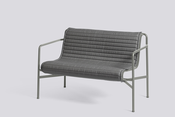 Palissade Dining Bench Sky Grey Quilted Cushion anthracite