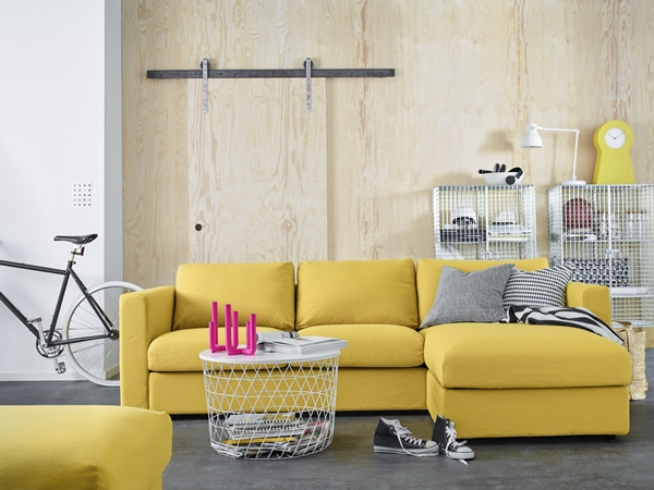 IKEA_VIMLE_2-sits_soffa_med_schaslong_ORRSTA_gyllengul_PH143399