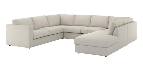 IKEA_VIMLE_u-soffa_5-sits_med_oppet_slut_GUNNARED_beige_PE639420