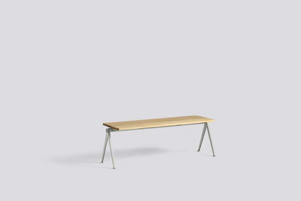 Pyramid Bench 11 L140 W40 Frame beige Top oak clear lacquered
