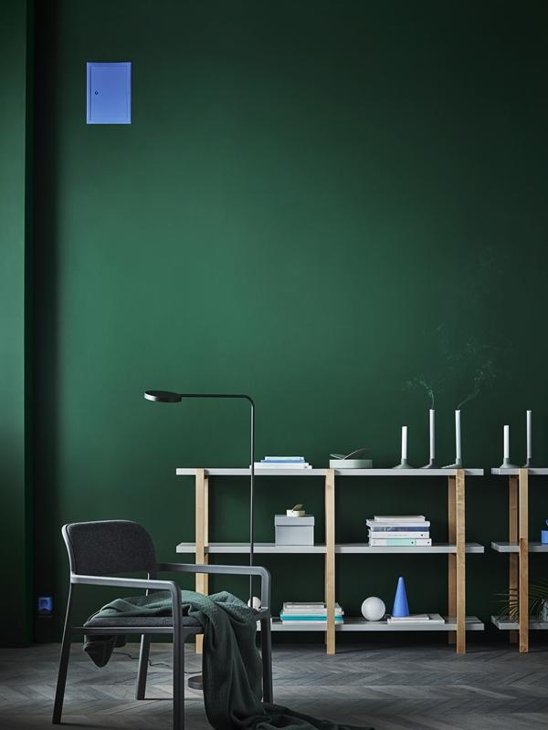 IKEA_YPPERLIG_hylla_bjork_golvlampa_LED_fatolj_ljusgra_PH146018