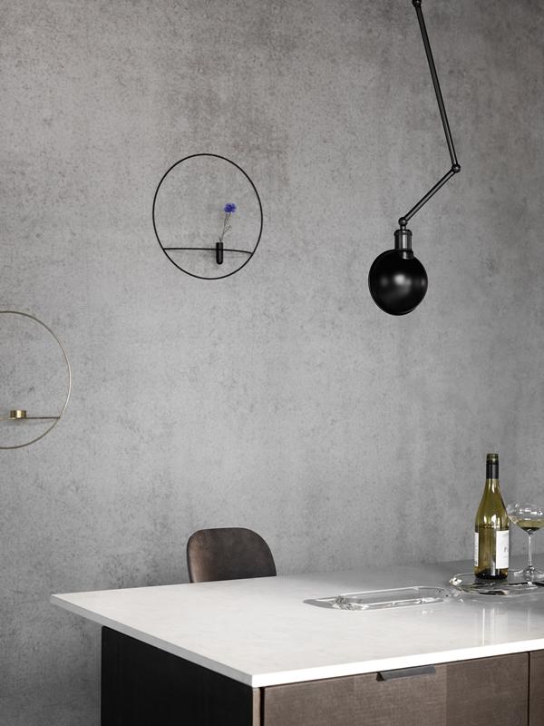 MENU Hudson Ceiling-Wall Lamp, POV Vase, POV Candleholder