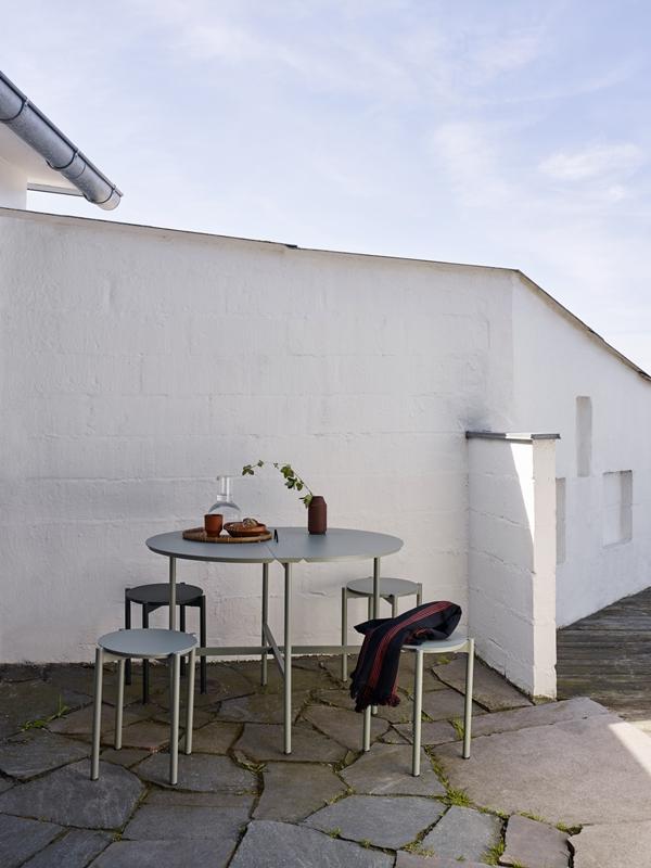 1560093 1560083 Picnic Stool Table, Slate Grey