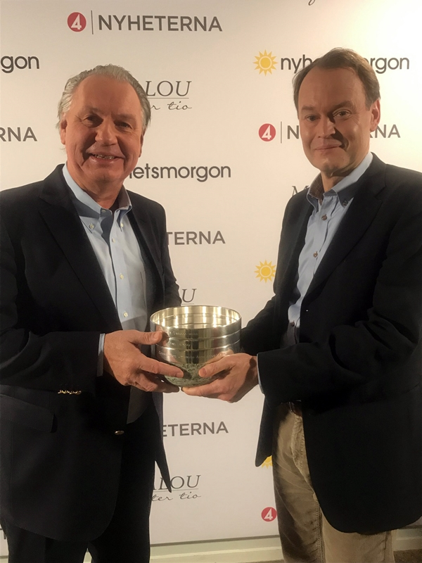 2018 trophy recipient Fredrik Mertens - on right