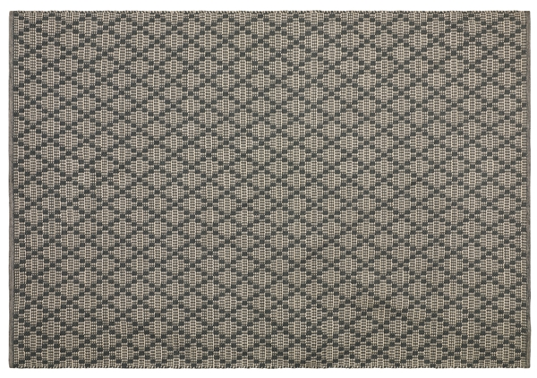Chhhatwal and Jonsson carpet Mitra recycled pet indoor outdoor 170x240 charcoal grey light khaki 3995sek