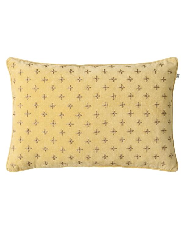 Chhhatwal and Jonsson cushion Cadi Velvet 40x60 yellow dark oak 595sek