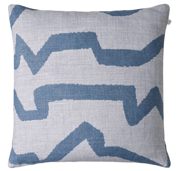 Chhhatwal and Jonsson cushion Leya linen 50x50 light blue blue 650sek